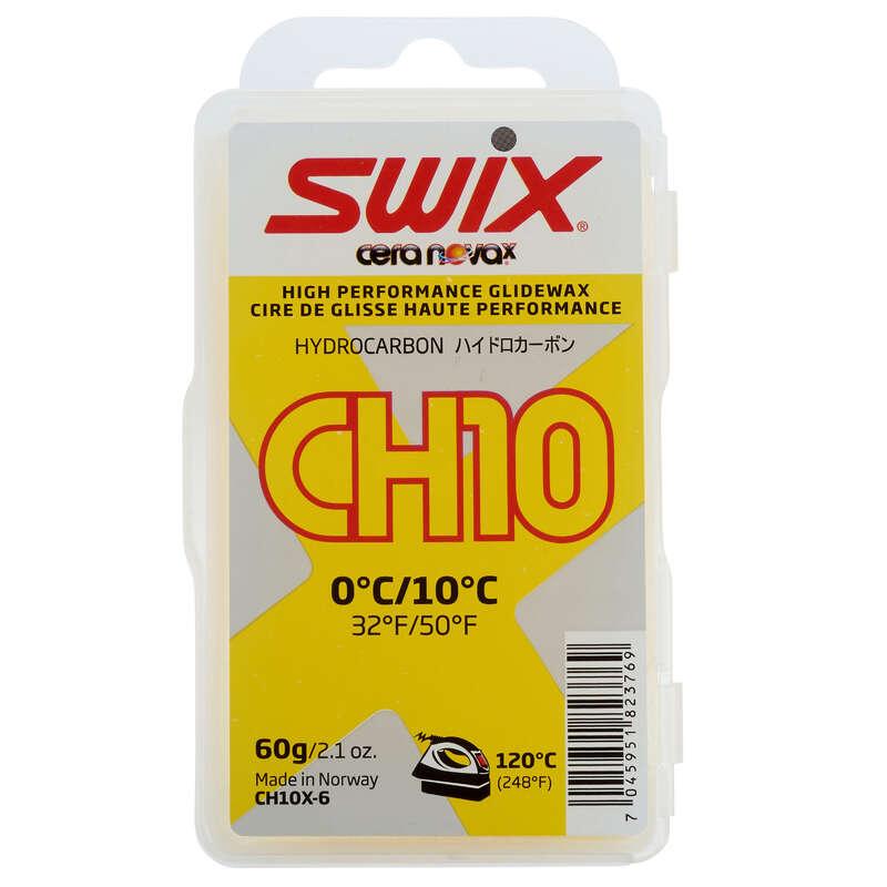 CROSS COUNTRY SKI POLE Cross-Country Skiing - CH 10 0/+10 Wax - Yellow SWIX - Cross-Country Skiing
