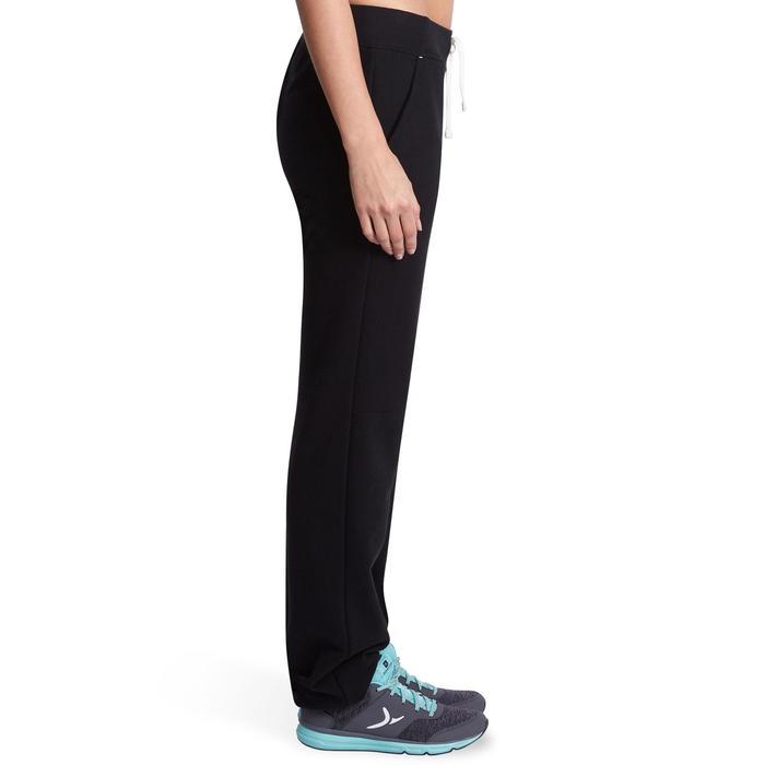 Pantalon 500 regular Gym Stretching femme noir