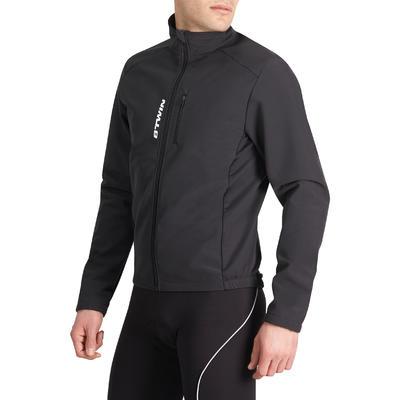 Дорожня куртка 100 для велотуризму, зимова - Чорна