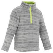 Siv pohodniški pulover iz flisa MH120 za otroke