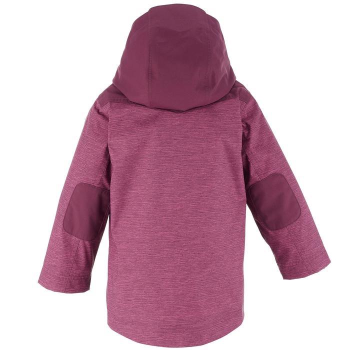 Girls' 2-6 years Snow Hiking Warm 3-in1 Jacket SH100 - Plum