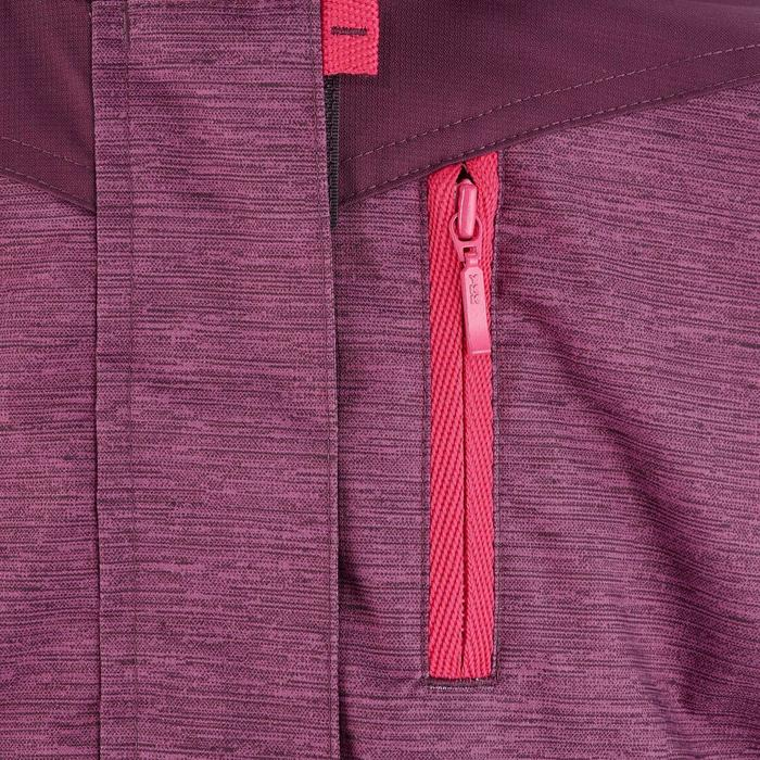 女童雪地健行3合1保暖外套SH500-梅紅色