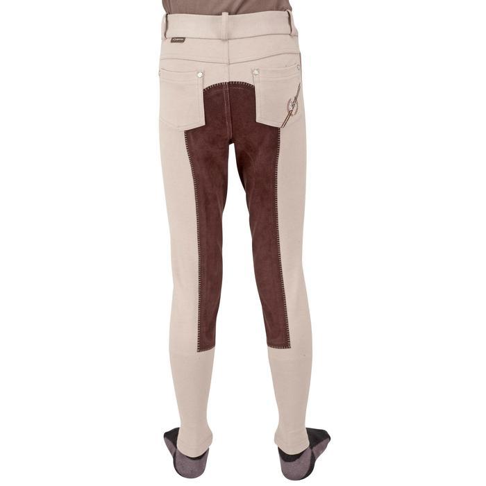 Pantalon équitation enfant FULLSEAT noir et - 1023951