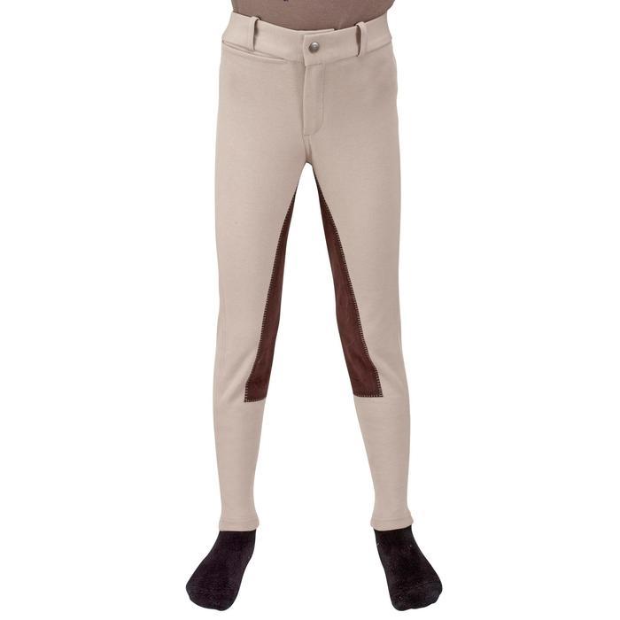 Pantalon équitation enfant FULLSEAT noir et - 1023952