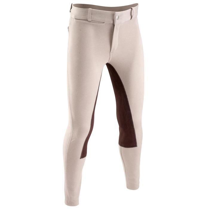 Pantalon équitation enfant FULLSEAT noir et - 1023963