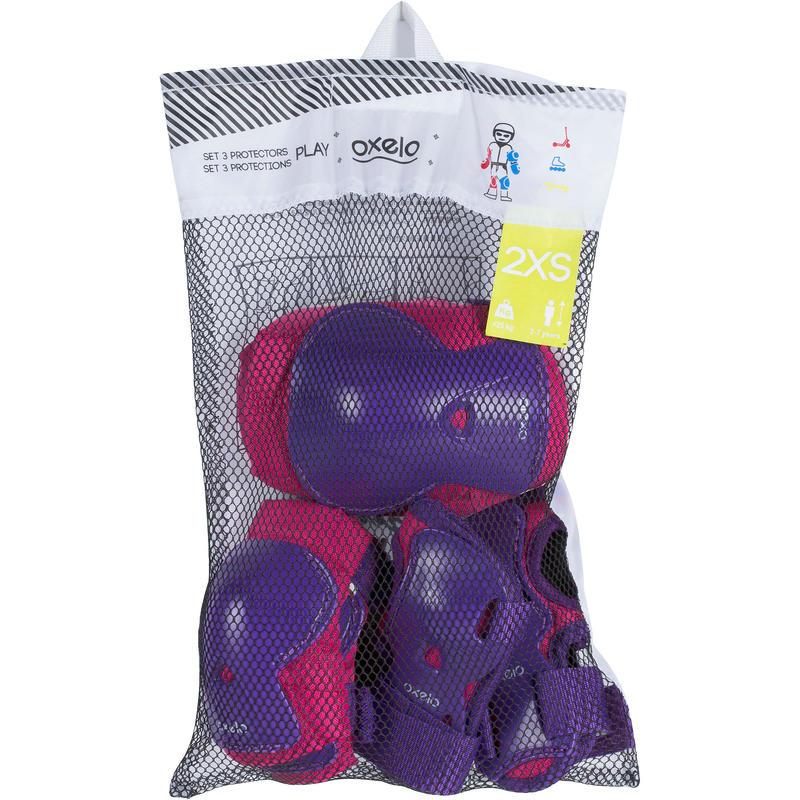 Kids' Inline Roller Skate Protectors - Purple/Pink