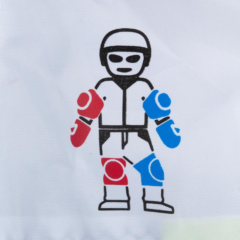 สนับป้องกันรุ่น Play Kid 3 ชิ้นสำหรับเล่นอินไลน์สเก็ต สเก็ตบอร์ด และสกู๊ตเตอร์ (สีฟ้า Turquoise)