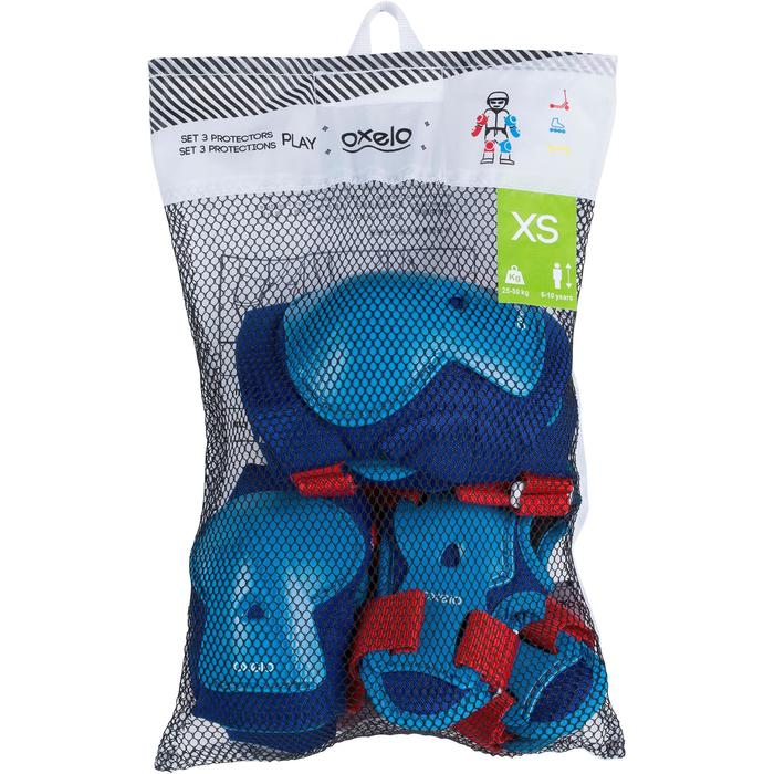 Play Children's 3-Piece Protective Gear for Skates/Skateboard/Scooter - Blue - 1023989