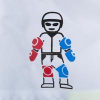ערכת 3 מגנים לילדים Play להחלקה על רולרבליידס או קורקינט - כחול/אדום