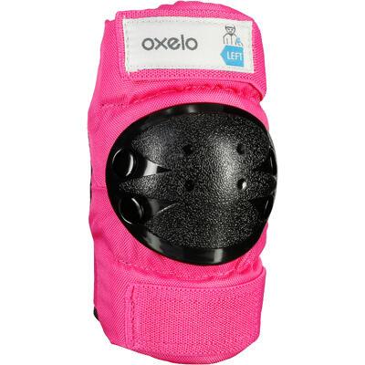 3قطع حماية خاصة بالأطفال لأحذية التزلج وألواح التزلج والاسكوتر-وردي
