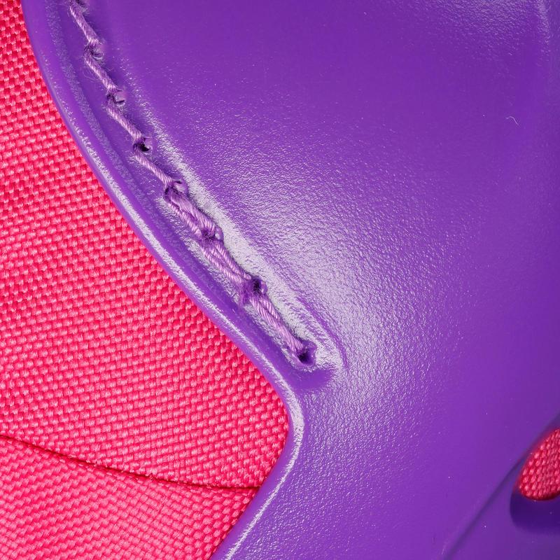 Set 3 protecciones patines skateboard scooter PLAY rosado y violeta