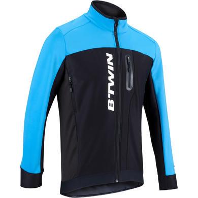 Giacca ciclismo uomo 900 nero-azzurro