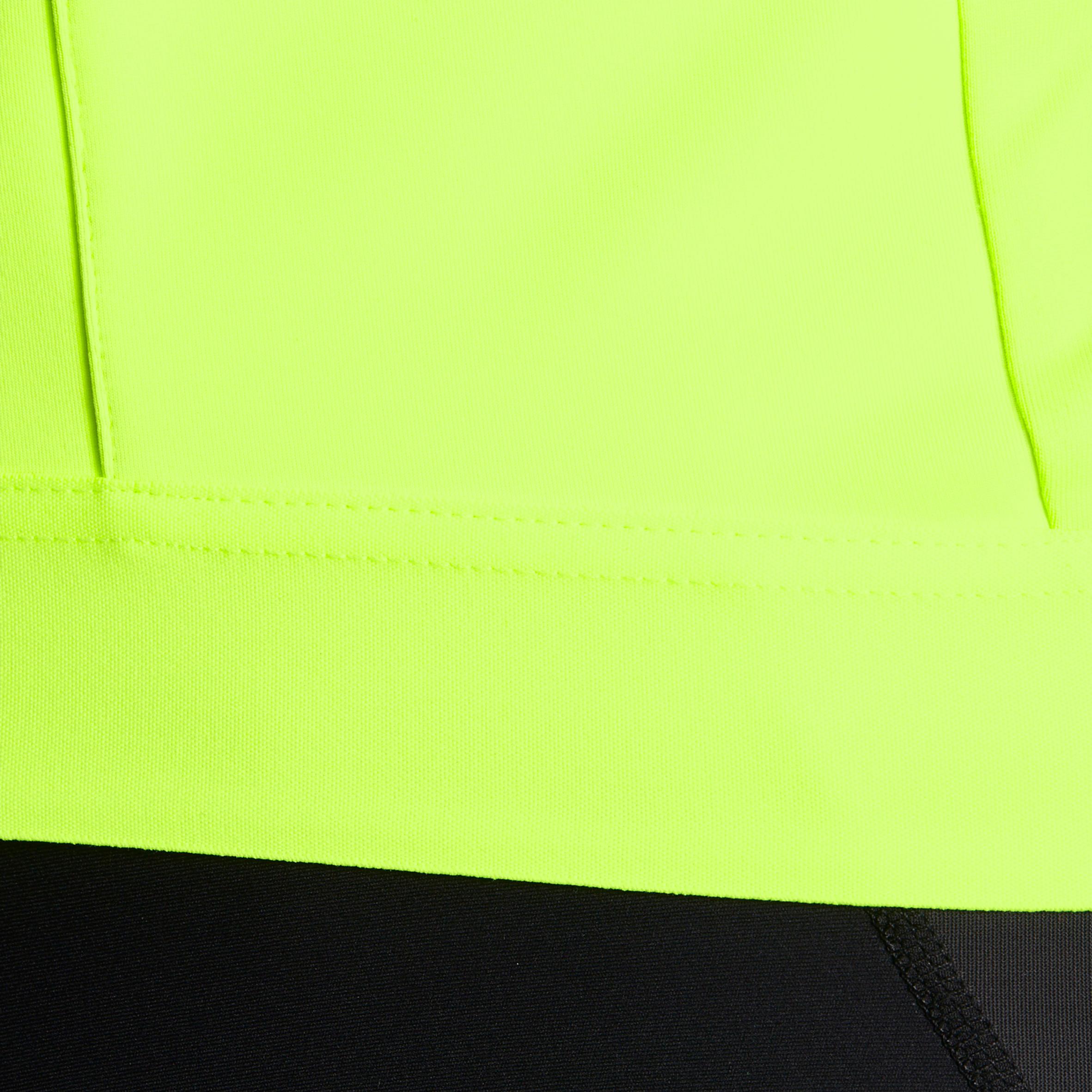 VESTE VÉLO ROUTE HOMME TEMPS FROID CYCLOTOURISTE 900 JAUNE FLUO