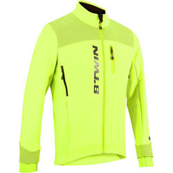 900 Cold Weather Cycle Touring Road Cycling Jacket - Neon Yellow