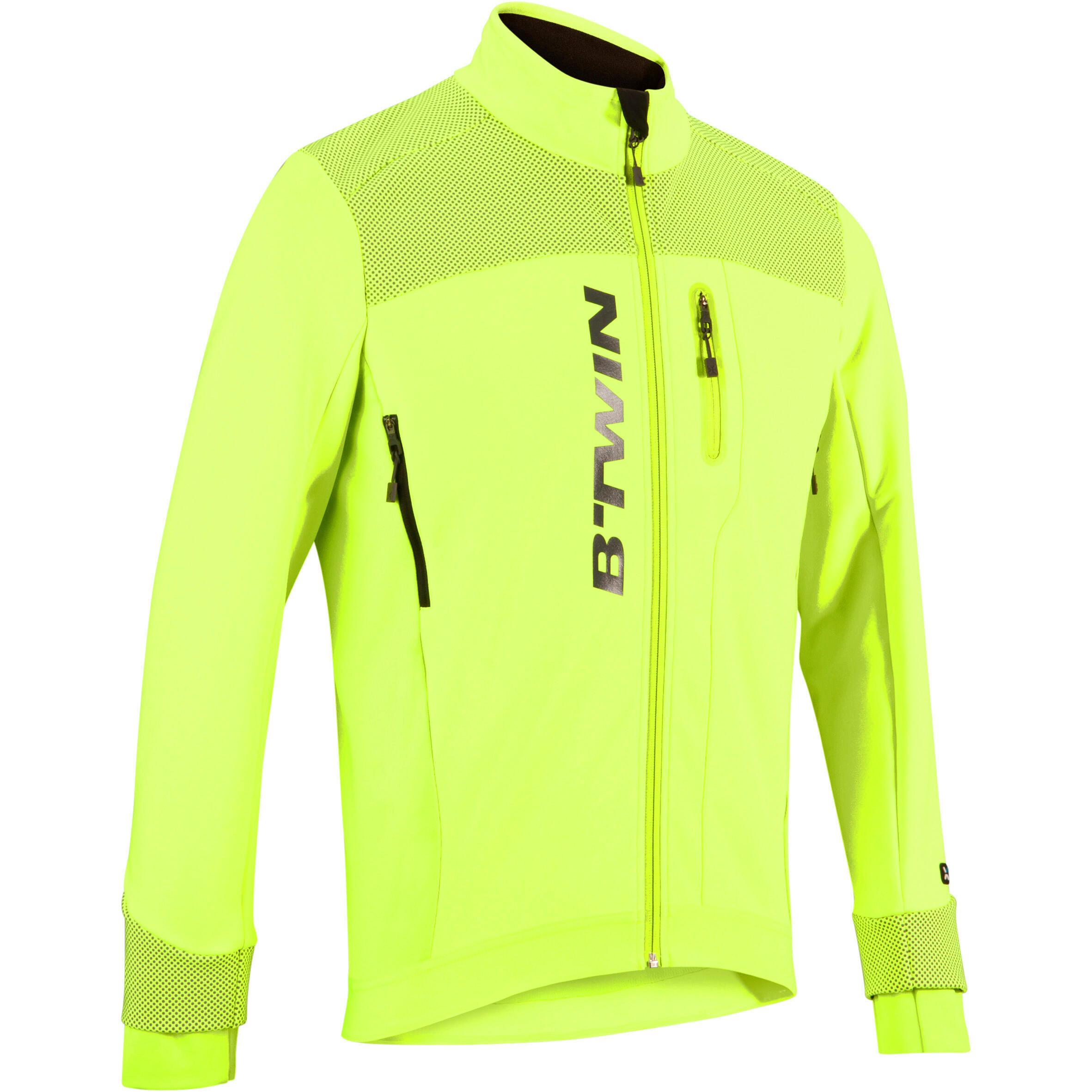 Fahrradjacke 520 Radsport Herren kaltes Wetter neongelb | Sportbekleidung > Sportjacken > Fahrradjacken | B'twin