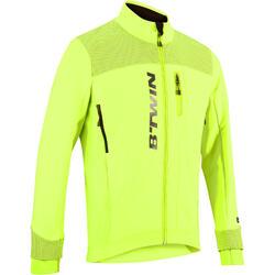 Fahrradjacke 900 Radsport Herren kaltes Wetter neongelb