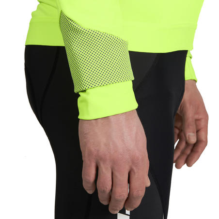 520 Cold Weather Cycle Touring Road Cycling Jacket - Neon Yellow