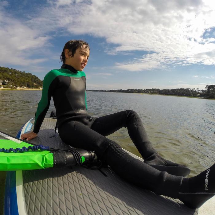 Combinaison Surf 500 Néoprène 4/3 mm Enfant verte - 102424