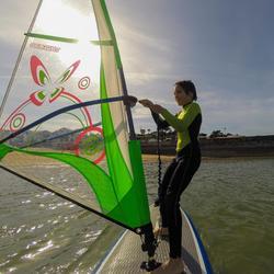 Windsurfplank 170 l met zwaard en footstraps