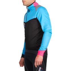 Fietsjack heren Aerofit Team zwart/blauw/roze - 1025178