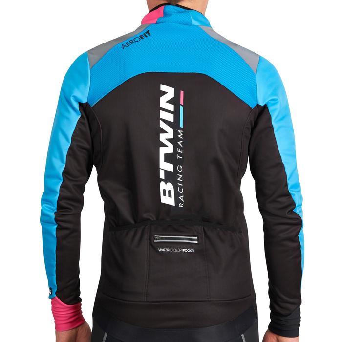 Fahrradjacke Aerofit Team Herren schwarz/blau/rosa
