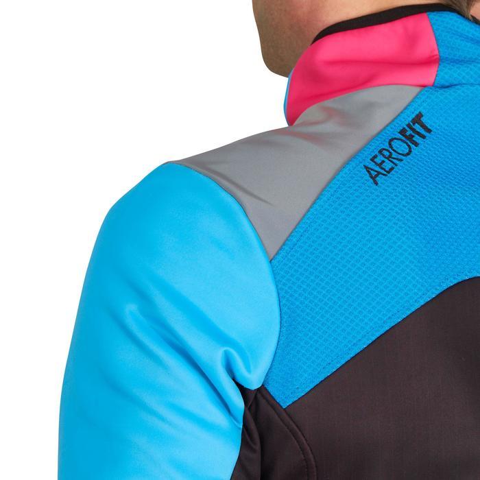 Fietsjack heren Aerofit Team zwart/blauw/roze