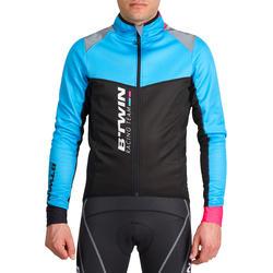 Fietsjack heren Aerofit Team zwart/blauw/roze - 1025185