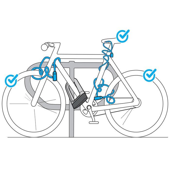 Slot voor fietsaccessoires 100 met sleutel grijs