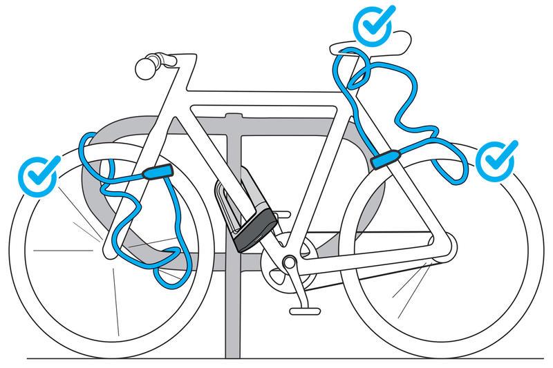 สายล็อคจักรยานพร้อมลูกกุญแจรุ่น 120