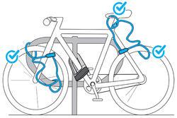 Slot voor fietsaccessoires 120 spiraal sleutel - 1025190