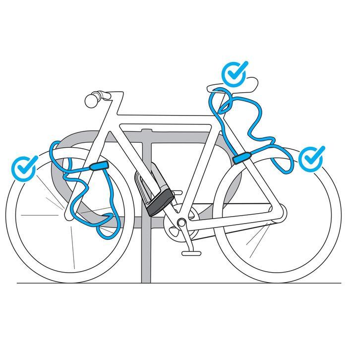 Fahrradschloss Kabelschloss 120 Schlüssel schwarz