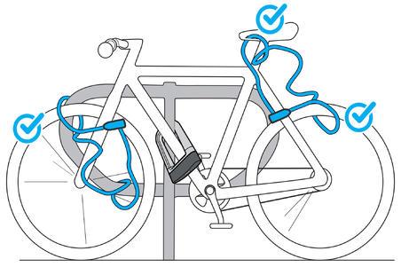 Велозамок с ключом 120