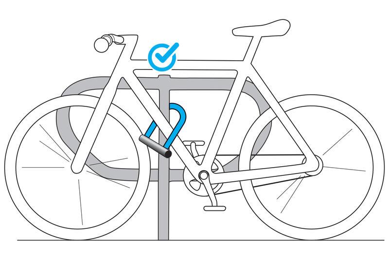 500 Bike D-Lock - Grey