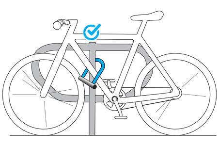 cadenas vélo U 500 gris