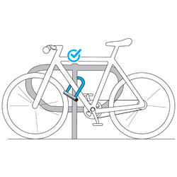 Fahrradschloss Bügelschloss 500 U grau