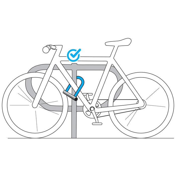 自行車U型鎖500 - 灰色