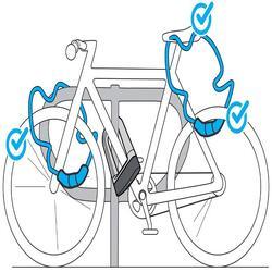 Fahrradschloss Kabelschloss 120 Code grau