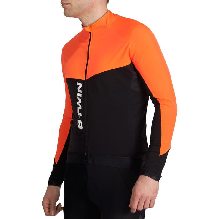 Fietsshirt met lange mouwen 900 oranje