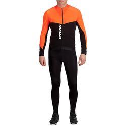 Fahrradtrikot Langarm 900 Herren orange
