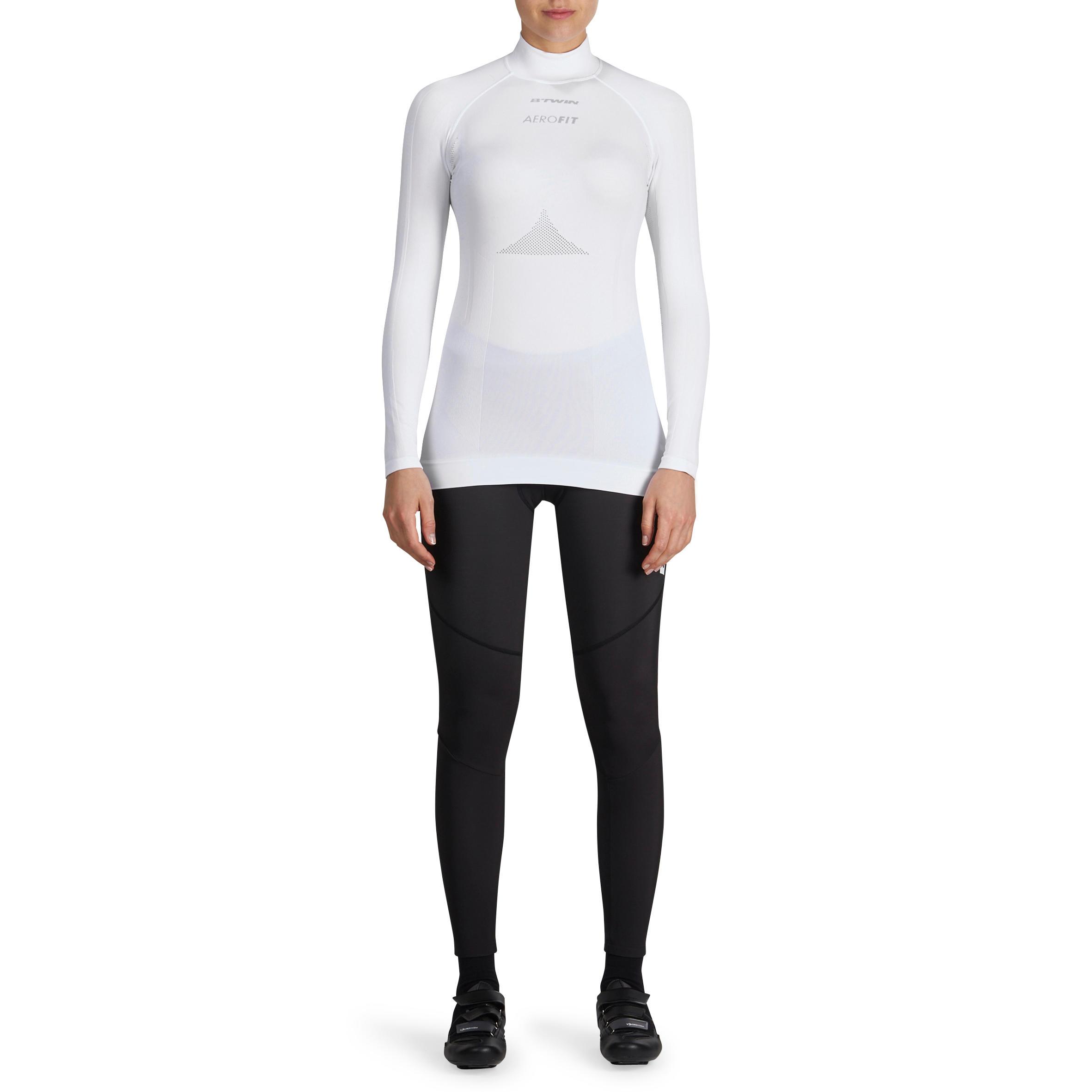 Sous-vêtement à manches longues cyclosport femme blanc