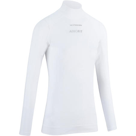 Women's Long-Sleeved Sport Cycling Base Layer - White