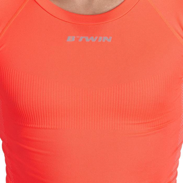 Fietsondershirt met lange mouwen voor heren 500 oranje - Warm