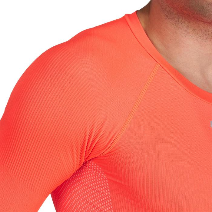 Fahrrad-Unterwäsche Langarm-Funktionsshirt 500 Herren orange