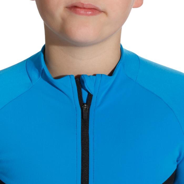 Fahrradtrikot Langarm 900 Kinder blau