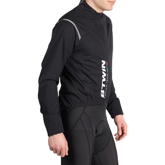 900 Cycling Rainproof Jacket - Black - COUPE PLUIE / COUPE VENT