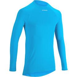 Fietsondershirt 300 met lange mouwen blauw - Warm