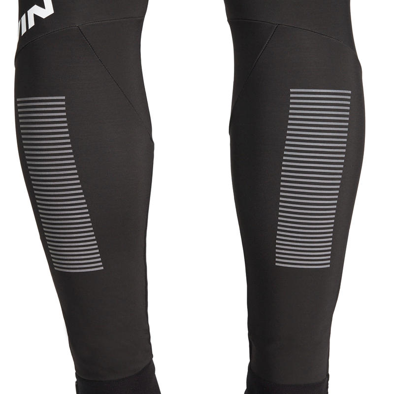 500 Cold Weather Long Cyclotourism Bib Tights - Black