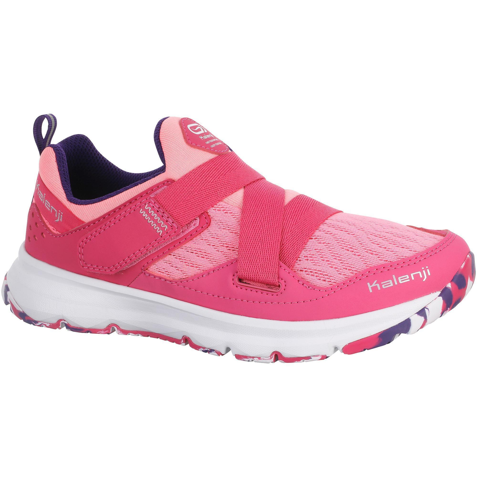 Chaussure running fille eliofeet fluo rose kalenji - Chaussure enfant decathlon ...
