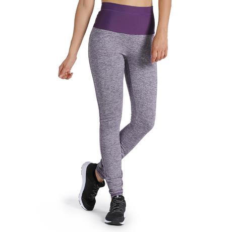 legging shape fitness femme gris et violet domyos by decathlon. Black Bedroom Furniture Sets. Home Design Ideas