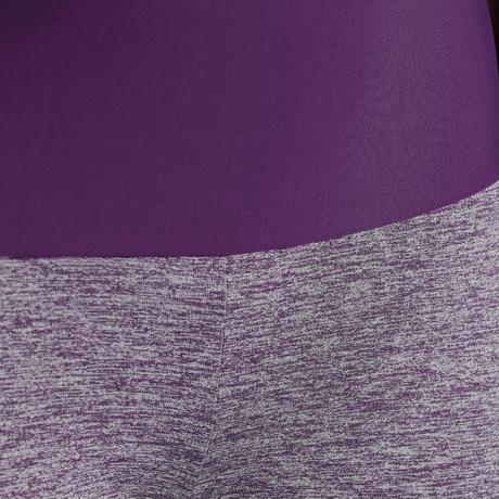Legging shape fitness femme gris et violet domyos by - Gris et violet ...